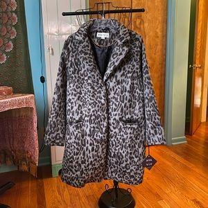 Ava & Viv NWT Leopard Print Button Up Coat 0X